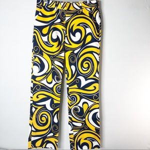 Loudmouth Blue and Yellow Golf Pants Size 34 NWOT